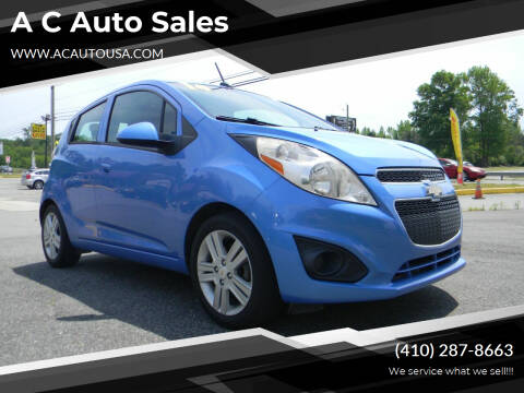 2014 Chevrolet Spark for sale at A C Auto Sales in Elkton MD