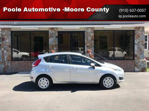 2016 Ford Fiesta for sale at Poole Automotive in Laurinburg NC