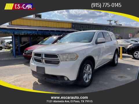 2012 Dodge Durango for sale at Escar Auto in El Paso TX