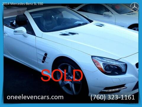 2014 Mercedes-Benz SL-Class for sale at One Eleven Vintage Cars in Palm Springs CA