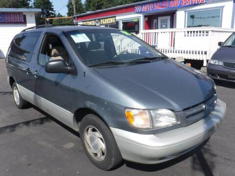1998 Toyota Sienna for sale at 777 Auto Sales and Service in Tacoma WA