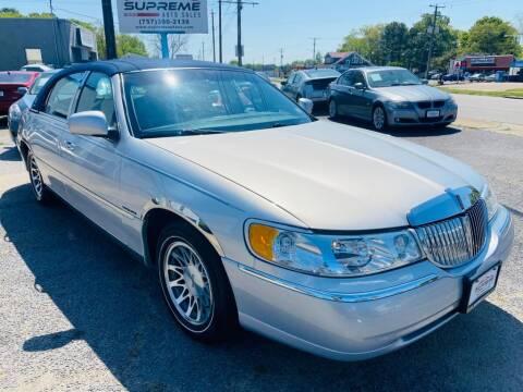 2002 Lincoln Town Car for sale at Supreme Auto Sales in Chesapeake VA