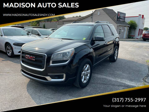 2014 GMC Acadia for sale at MADISON AUTO SALES in Indianapolis IN