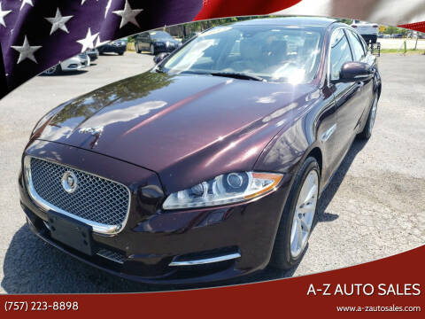 2013 Jaguar XJ for sale at A-Z Auto Sales in Newport News VA