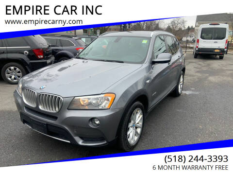 2013 BMW X3 for sale at EMPIRE CAR INC in Troy NY