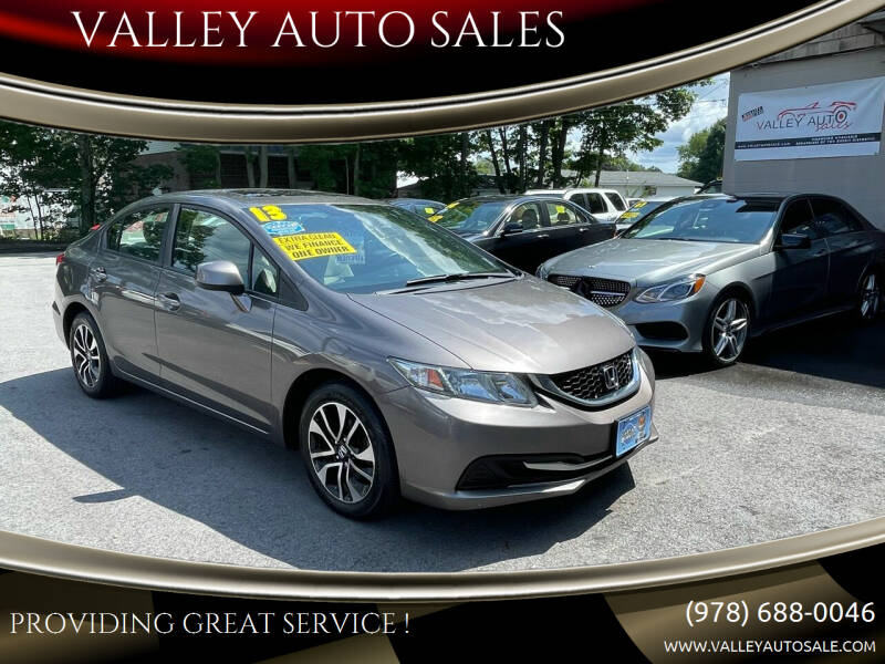 2013 Honda Civic for sale at VALLEY AUTO SALES in Methuen MA