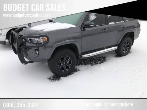 2018 Toyota 4Runner for sale at BUDGET CAR SALES in Amarillo TX