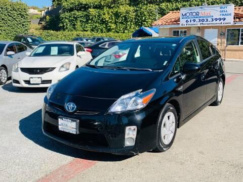 2011 Toyota Prius for sale at MotorMax in Lemon Grove CA