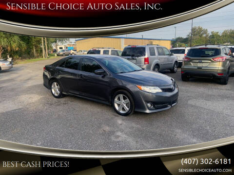 2013 Toyota Camry for sale at Sensible Choice Auto Sales, Inc. in Longwood FL