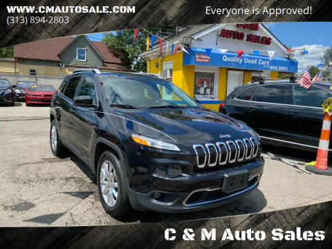 2015 Jeep Cherokee for sale at C & M Auto Sales in Detroit MI