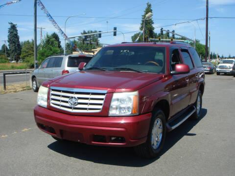 2004 Cadillac Escalade for sale at Sound Auto Land LLC in Auburn WA