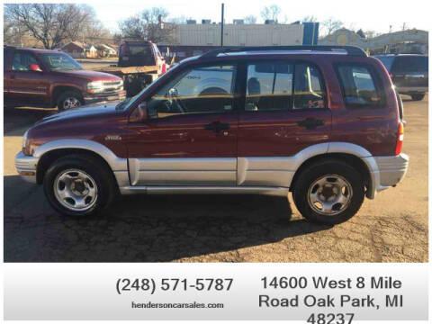 2000 Suzuki Grand Vitara for sale at Henderson Automotive, LLC in Oak Park MI