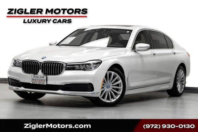 2019 BMW 7 Series for sale at Zigler Motors in Addison TX