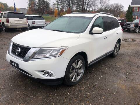 2014 Nissan Pathfinder for sale at Winner's Circle Auto Sales in Tilton NH