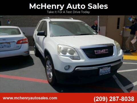2009 GMC Acadia for sale at McHenry Auto Sales in Modesto CA
