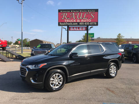 2019 Chevrolet Traverse for sale at RAUL'S TRUCK & AUTO SALES, INC in Oklahoma City OK