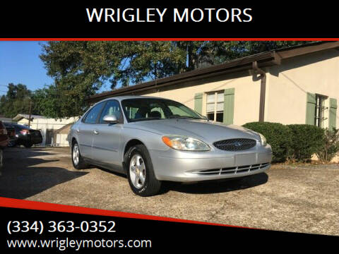 2003 Ford Taurus for sale at WRIGLEY MOTORS in Opelika AL