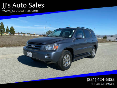 2005 Toyota Highlander for sale at JJ's Auto Sales in Salinas CA
