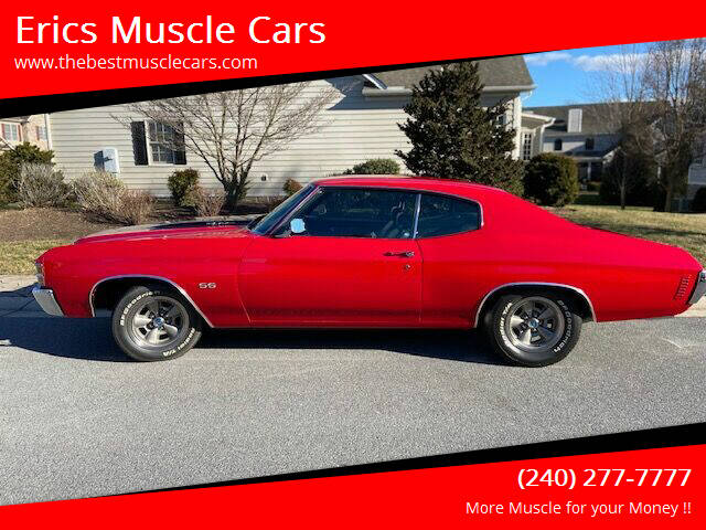 1971 Chevrolet Chevelle for sale at Erics Muscle Cars in Clarksburg MD