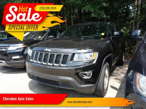 2015 Jeep Grand Cherokee for sale at Cherokee Auto Sales in Acworth GA