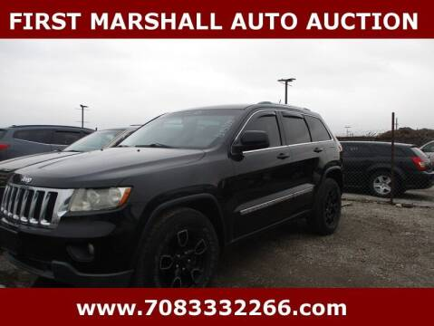 2012 Jeep Grand Cherokee for sale at First Marshall Auto Auction in Harvey IL