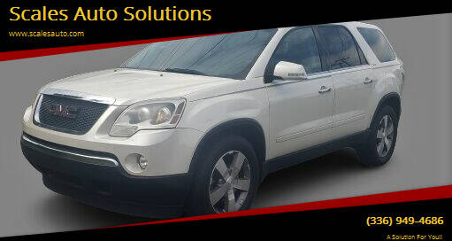 2011 GMC Acadia for sale at Scales Auto Solutions in Madison NC