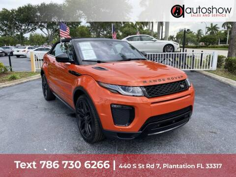 2018 Land Rover Range Rover Evoque Convertible for sale at AUTOSHOW SALES & SERVICE in Plantation FL