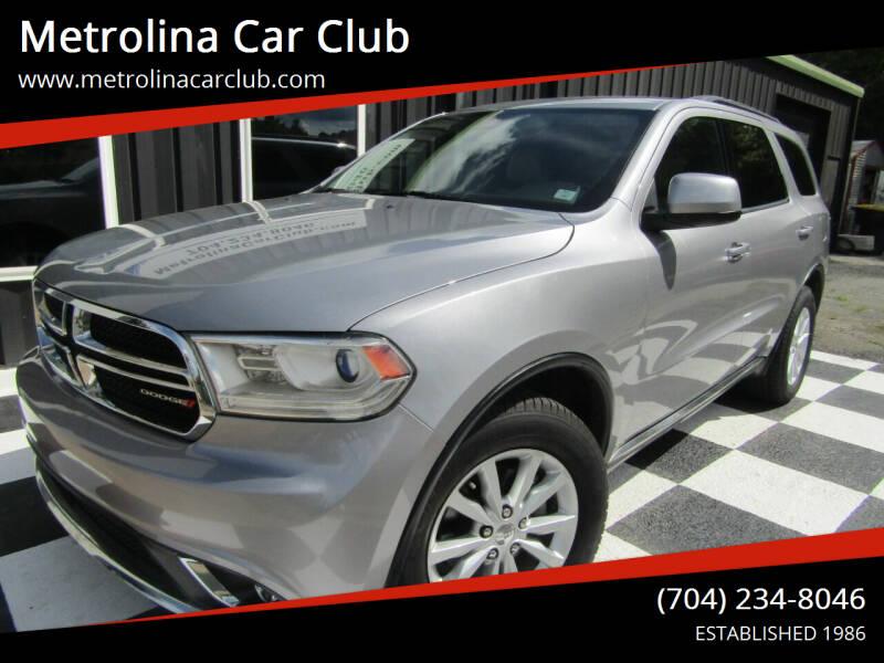 2015 Dodge Durango for sale at Metrolina Car Club in Matthews NC