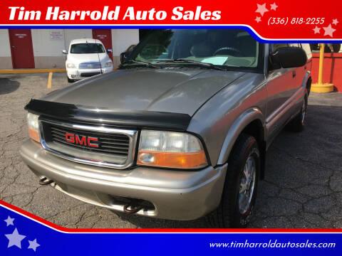2001 GMC Jimmy for sale at Tim Harrold Auto Sales in Wilkesboro NC