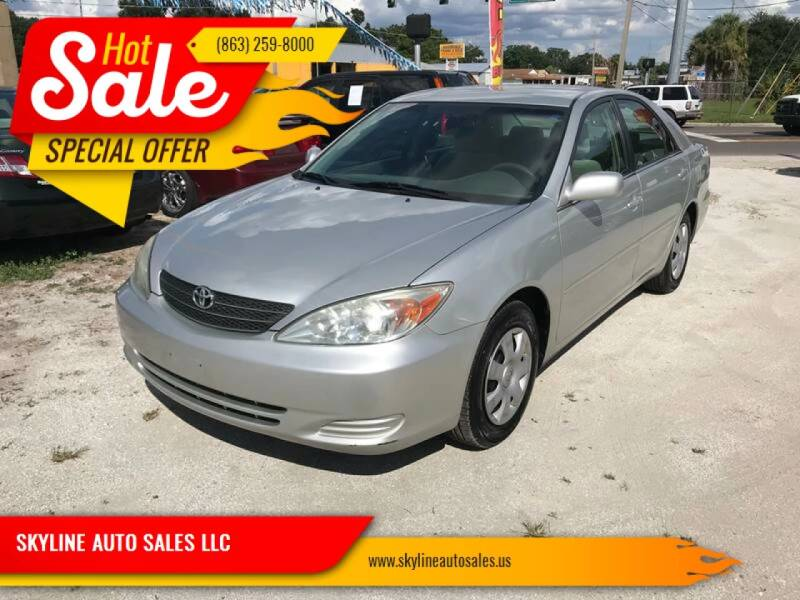 2003 Toyota Camry for sale at SKYLINE AUTO SALES LLC in Winter Haven FL