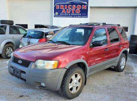 2001 Ford Escape for sale at Ericson Auto in Ankeny IA