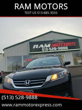 2013 Honda Accord for sale at RAM MOTORS in Cincinnati OH