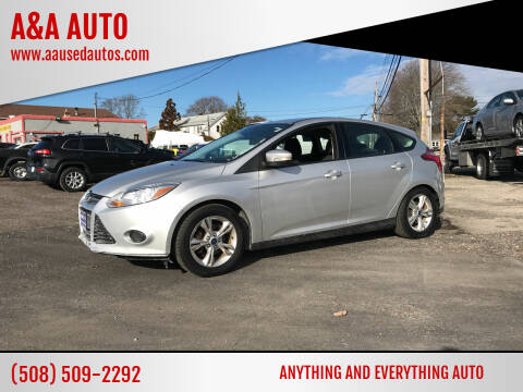 2014 Ford Focus for sale at A&A AUTO in Fairhaven MA