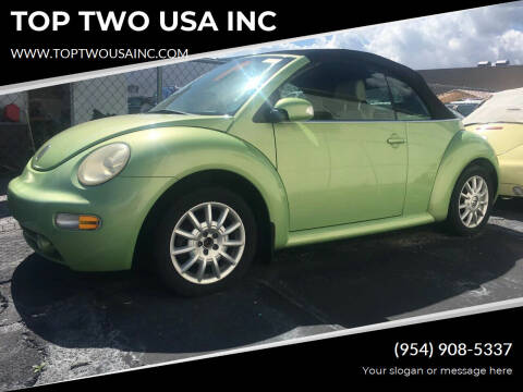 2004 Volkswagen New Beetle for sale at TOP TWO USA INC in Oakland Park FL