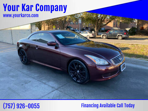 2010 Infiniti G37 Convertible for sale at Your Kar Company in Norfolk VA