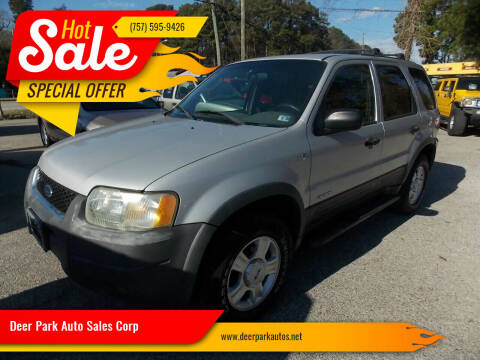 2002 Ford Escape for sale at Deer Park Auto Sales Corp in Newport News VA