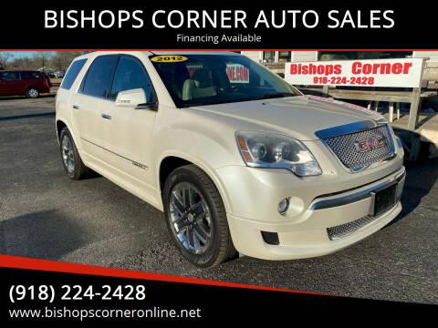 2012 GMC Acadia for sale at BISHOPS CORNER AUTO SALES in Sapulpa OK