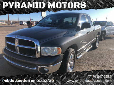 2004 Dodge Ram Pickup 1500 for sale at PYRAMID MOTORS - Pueblo Lot in Pueblo CO