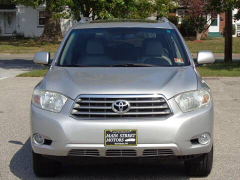 2009 Toyota Highlander for sale at MAIN STREET MOTORS in Norristown PA
