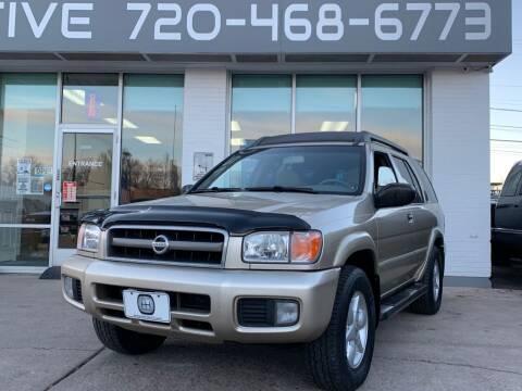 2002 Nissan Pathfinder for sale at Shift Automotive in Denver CO