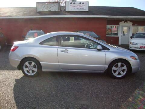 2006 Honda Civic for sale at G and G AUTO SALES in Merrill WI