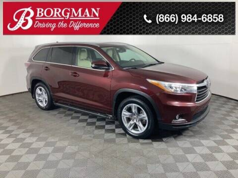 2015 Toyota Highlander for sale at BORGMAN OF HOLLAND LLC in Holland MI