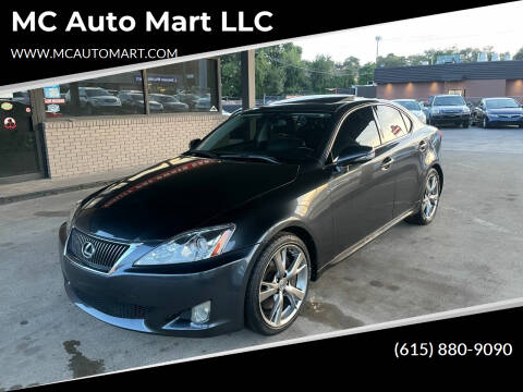 2010 Lexus IS 350 for sale at MC Auto Mart LLC in Hermitage TN