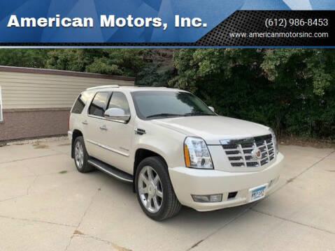 2013 Cadillac Escalade for sale at American Motors, Inc. in Farmington MN
