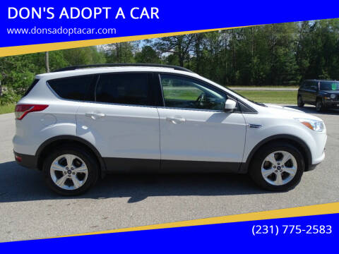 2016 Ford Escape for sale at DON'S ADOPT A CAR in Cadillac MI