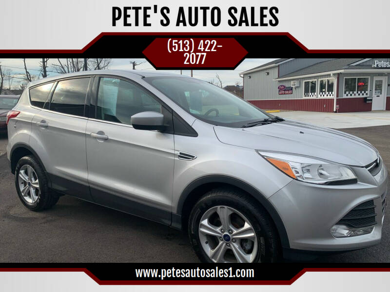 2013 Ford Escape for sale at PETE'S AUTO SALES LLC - Middletown in Middletown OH