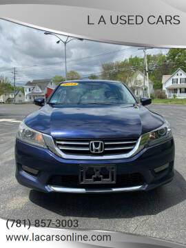2014 Honda Accord for sale at L A Used Cars in Abington MA