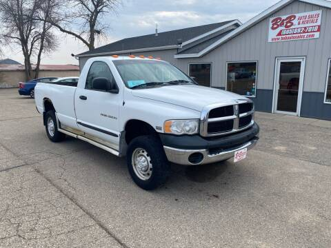 2004 Dodge Ram Pickup 2500 for sale at B & B Auto Sales in Brookings SD