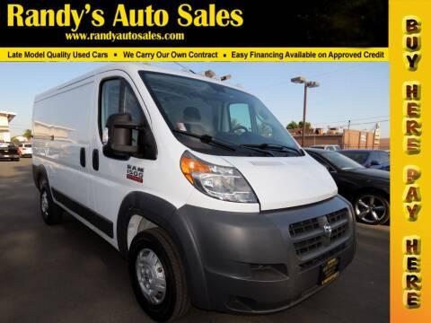 2018 RAM ProMaster Cargo for sale at Randy's Auto Sales in Ontario CA