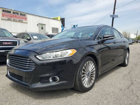 2013 Ford Fusion for sale at MENNE AUTO SALES in Hasbrouck Heights NJ